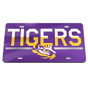 LSU Tigers Duo Laser Cut Acrylic License Plate
