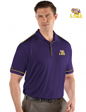 Antigua LSU Men's Purple Salute Desert Dry Polo