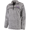 LSU Women's Grey Super Soft Sherpa Quarter-Zip Pullover Jacket