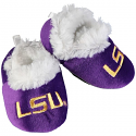 LSU Infant Purple Fuzzy Slippers