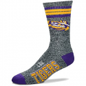 For Bare Feet LSU Tigers Adult Got Marble Grey Crew Socks