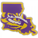 LSU Acrylic State with Tiger Eye Auto Emblem