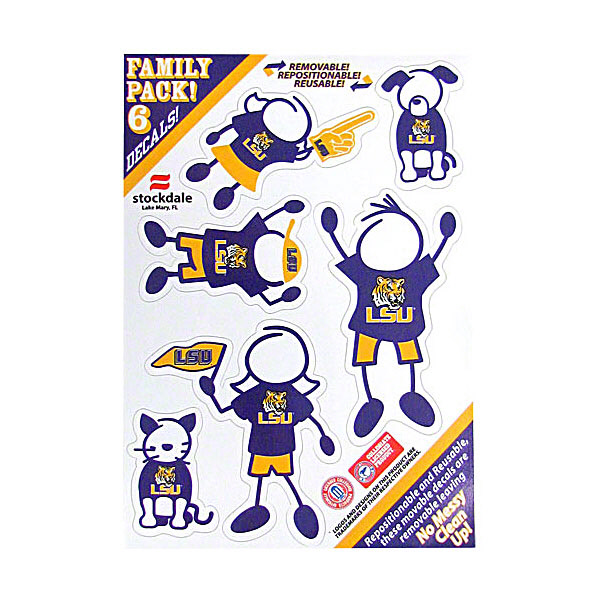 LSU Tigers 6-Pack Family Decals 5 x 7