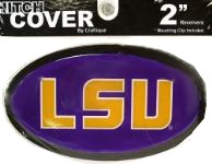 """LSU Tigers Oval LSU Logo Hitch Cover for 1.25"""" or 2"""" Receivers - Purple"""