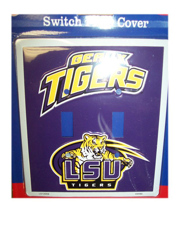 LSU Tigers Double Light Switch Plate