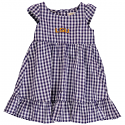 LSU Tigers Toddler Girl's Gigi Dress - Purple and White