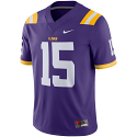 Nike LSU Men's Purple #15 Gameday Football Jersey