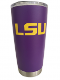 LSU Tigers 20 oz. Powder Coated Finish Comfort Color Tumbler - Purple