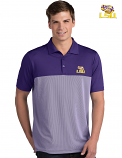 Antigua LSU Men's Purple & White Venture Striped Polo