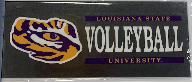 "LSU Tigers Volleyball Classic Bar Design Vinyl Decal 6"" x 2"""