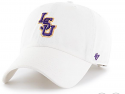 LSU 47 Brand Adjustable Interlocking Logo Clean Up Hat - White