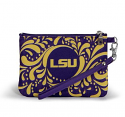 LSU Paisley Wristlet - Purple and Gold