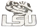 LSU Tigers Tiger Eye Bling Adhesive Decal - Silver and Black