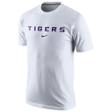 Nike LSU Tigers Wordmark Cotton Tee - White