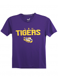 LSU Tigers Youth and Child Dri Tek Performance Tee - Purple