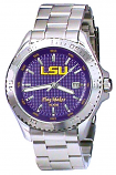 LSU Stainless Steel 10 ATM Waterproof PlayMaker Sport Watch for Men Custom Made by Taylor Watches