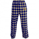 LSU Tigers Men's Plaid Flannel Pajama Pant - Purple, Gold and White