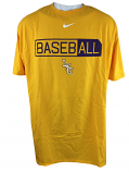 Nike LSU Tigers Men's 3X Short Sleeve Cotton Core Baseball Tee - Gold