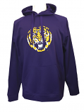 LSU Tigers Polyester Men's Vintage Tiger Head Hoodie - Purple