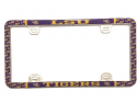 LSU Tigers Thin Rim Hybrid License Plate Frame - Purple and Gold