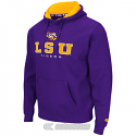LSU Tigers Men's Colosseum Zone II Pullover Hoodie Sweat Shirt - Purple
