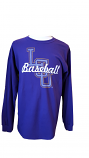 LSU Tigers Long Sleeve Script Baseball T-Shirt - Purple