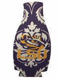 LSU Tigers Damask Bottle Coozie