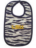 LSU Tigers Animal Striped Bib - Purple and White