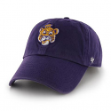 LSU '47 Brand Purple Clean Up Adjustable Slouch Vintage Beanie Tiger Hat
