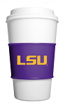 LSU Tigers Gripz Reusable Silicone Coffee Sleeve (cup not inclulded) - Purple