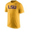 Nike LSU Tigers Men's Cotton Wordmark T-Shirt - Gold