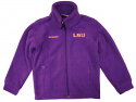 LSU Tigers Columbia Child/Youth Flanker Fleece Jacket - Purple