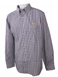 Antigua LSU Tigers Men's Associate Long Sleeve Button Up Shirt - Purple and White