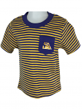 LSU Tigers Toddler Striped Pocket T-Shirt - Purple and Gold
