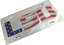LSU Tigers Stars and Stripes Mirrored Inlaid Acrylic License Plate - Red, White & Blue