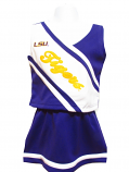 LSU Tigers TODDLER and CHILD'S 2-Piece Cheerleader Set - Purple and White