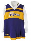 LSU Tigers Infant & Toddler Cheerleader Dress with Long Sleeve Turtle Neck Top - Purple, Gold, and White