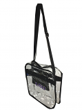 LSU Tigers Clear Vinyl Logo Shoulder Tote Bag with Black Trim