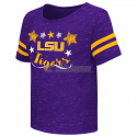 Colosseum LSU Tigers Toddler Girl's Janice Short Sleeve Tee - Purple