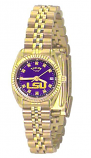LSU Classic Gold Diamond Watch for Women with Purple Background Custom Made by Taylor Watches
