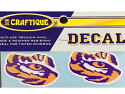 "LSU Tigers 2"" Die Cut Tiger Eye Premium Vinyl Decals - 2 per pack"