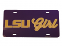 LSU Girl Glossy License Plate - Purple and Gold