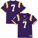 Nike LSU Tigers CHILD'S #7 Football Jersey – Purple