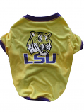 LSU Tigers Dog T-Shirt - Gold