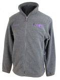LSU Tigers Men's Columbia Full Zipper Flanker Jacket - Charcoal