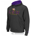 LSU Tigers Men's Colosseum Zone II Pullover Hoodie Sweat Shirt - Charcoal