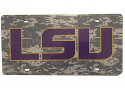 LSU Tigers Digital Camo Laser Cut Acrylic License Plate - Digital Camo