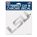 "LSU Tigers Chrome Perfect Cut Decal 6"" X 6"""