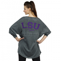 LSU Tigers French Terry Varsity Jersey - Charcoal