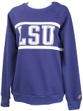 LSU Tigers Women's Physical Ed Sweat Shirt with Pockets - Purple